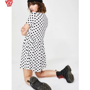 Daisy Street HEART PRINT SMOCK DRESS 2